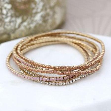 Crystal Strand Bracelets - Gold