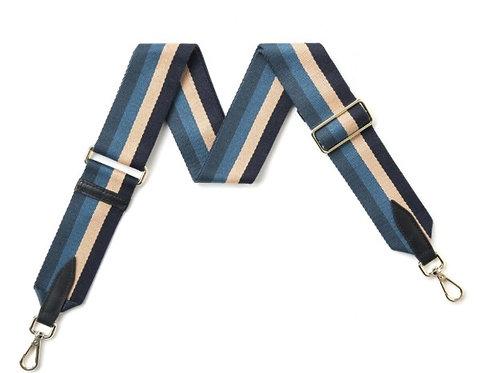Stripe Bag Strap - Blue / Cream