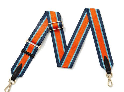 Multi Stripe Bag Strap - Orange