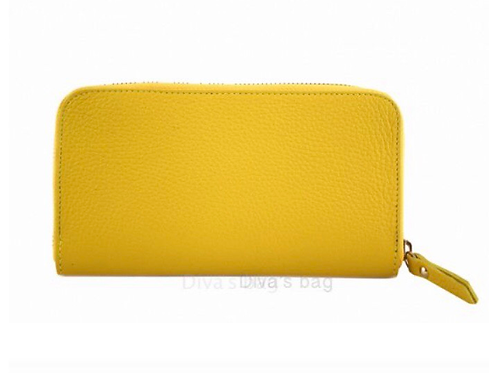 Eve Leather Wallet - Yellow
