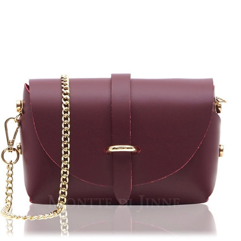 Hana Mini Box Bag - Dark Red