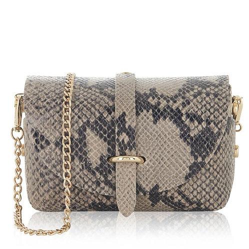 Hana Mini Box Bag - Snake Print