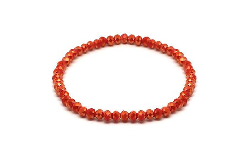 Kos Crystal Stretch Bracelet -Coral