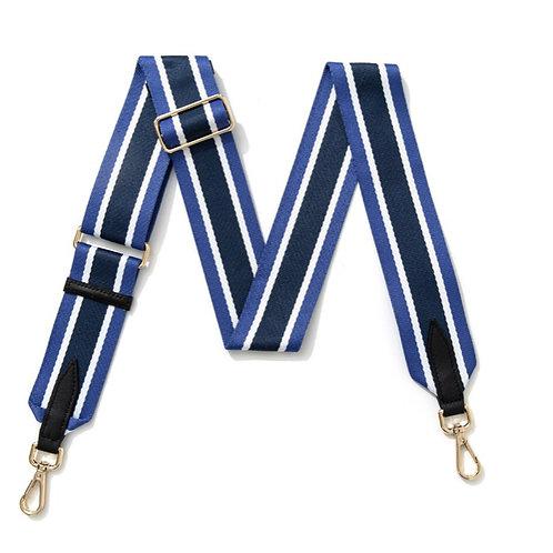 Multi Stripe Bag Strap - Blue