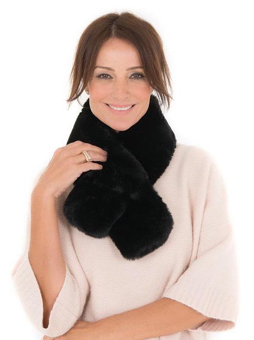 Faux Fur Tippet Scarf - Black