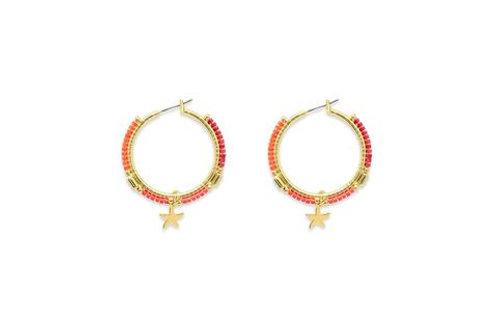 Ibiza Hoop Earrings - Gold / Orange