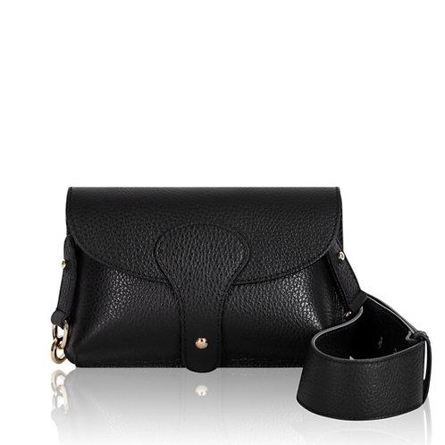 Bria Leather Clutch Bag - Black