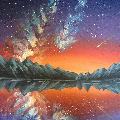 """The bright stars"" landscape painting"