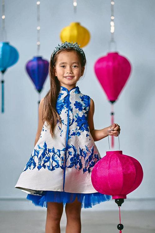 "Chinadoll Silk Dress - ""porcelain doll"""