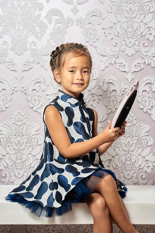 "Chinadoll Silk Dress - Limited edition ""Blue Lagoon"""
