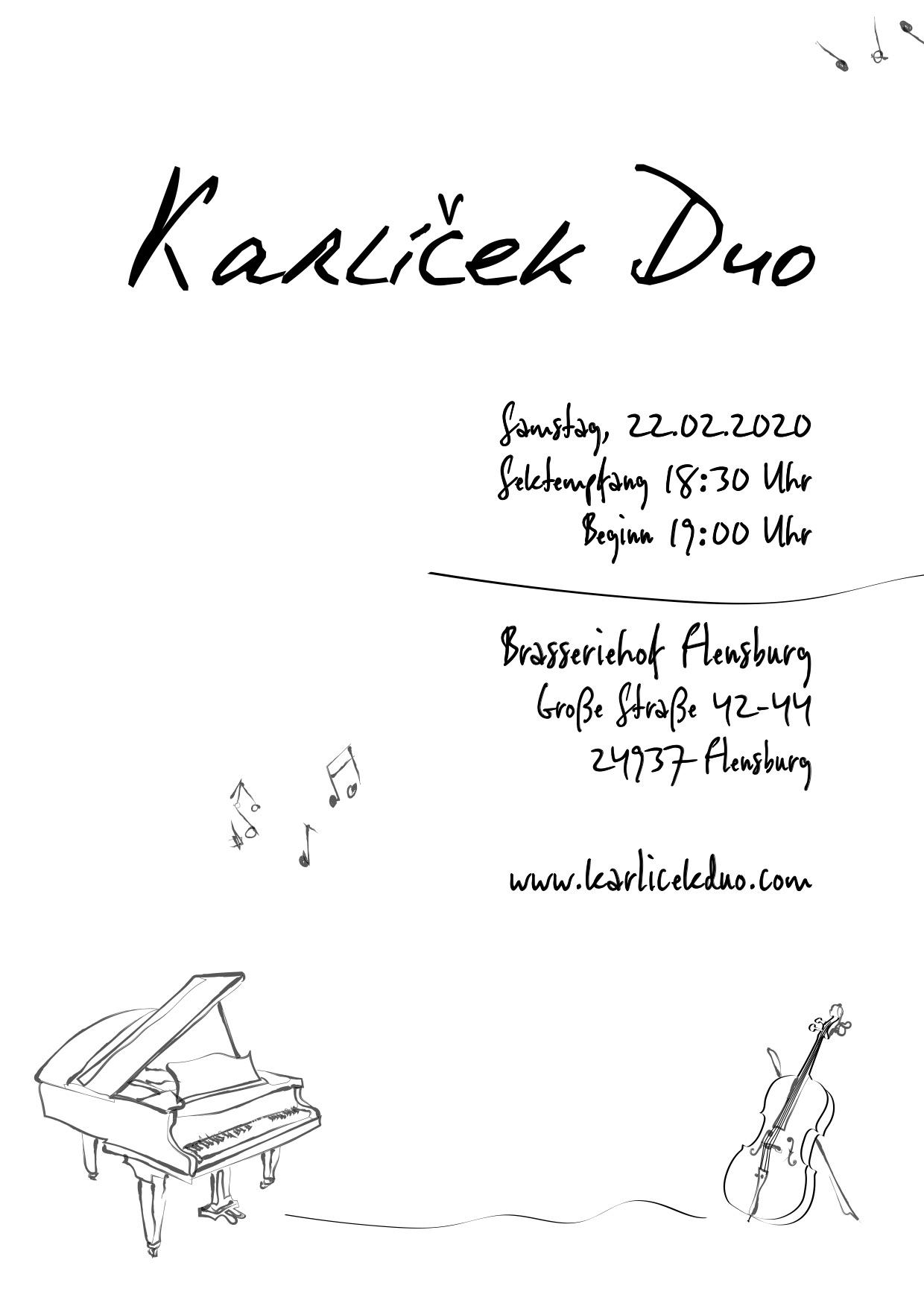 Plakat Karlicek Duo 22.02.2020