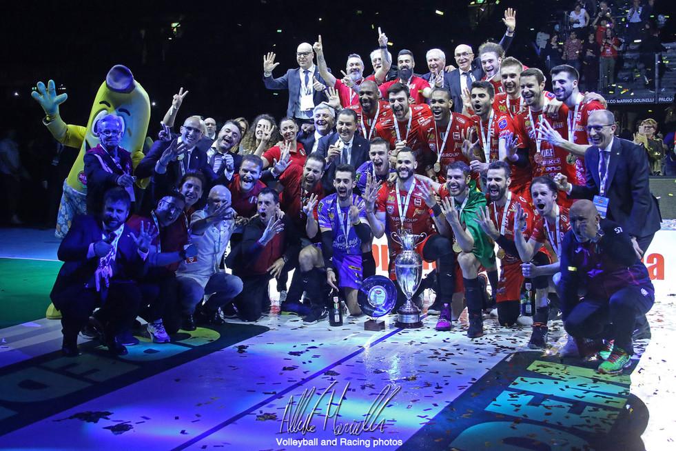 Del Monte Coppa Italia: la Lube fa sua la Coppa Italia al tie-break dopo 174 minuti