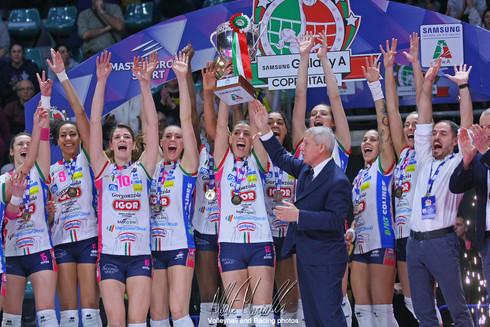 Finali Samsung Galaxy A Coppa Italia: Una Igor cinica fa il bis inseguendo il triplete