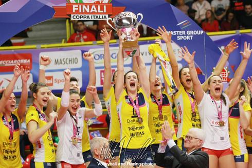 Finali Coppa Italia: La Delta Informatica Trentino vince la sua prima Coppa Italia A2