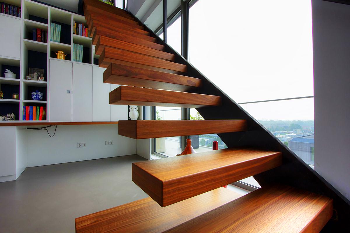 Prijs Zwevende Trap : Semi zwevende trap van bruchem staircases