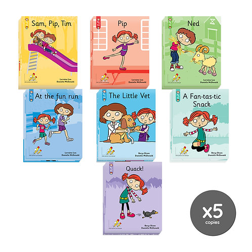 Stage 1 - 6 Classroom Book Pack - Pip and Tim