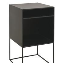 Bedside Cabinet Large Black w_Shelf   Shop Now at King and Teppett.jpeg