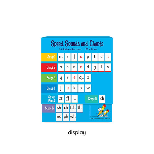 Speed Sounds and Chants Stages 1-6 Classroom Display Size