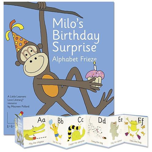 Milo's Birthday Surprise Alphabet Frieze
