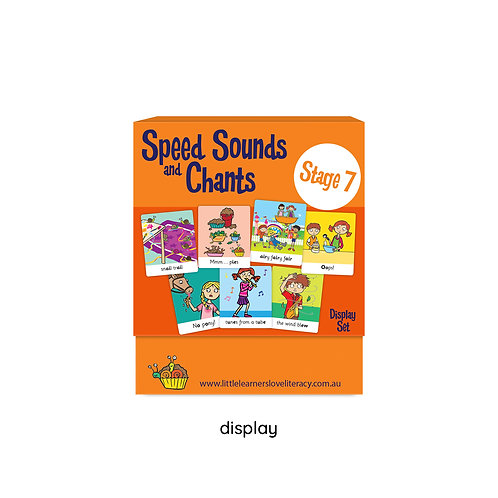 Speed Sounds and Chants Stages 7 Classroom Display Size