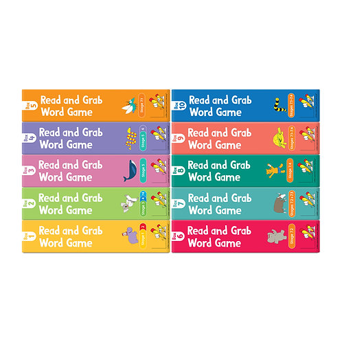 Read and Grab Word Game Set: Games 1-10