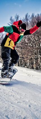 Shooting Snowboard