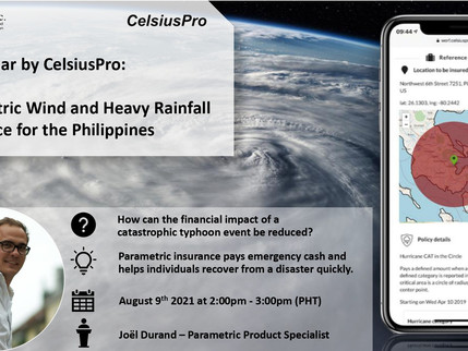FREE WEBINAR - PARAMETRIC TYPHOON & HEAVY RAINFALL INSURANCE IN THE PHILIPPINES, 09 AUGUST 2021