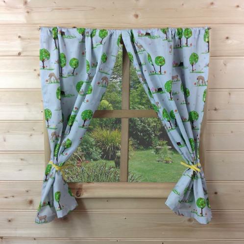 Woodland Animals Playhouse Curtains