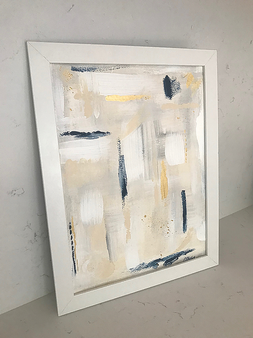 """Neutral Abstract - 9"""" x 12"""""""