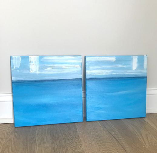 Two 12 x 12 Acrylic on  wrapped canvas
