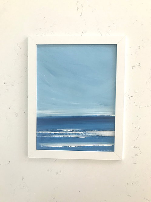 "Simple Seascape - 9"" x 12"""