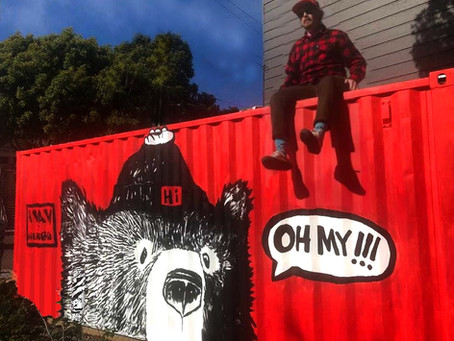 Oh My! Friendly neighborhood muralist opens solo exhibit and pop up shop in Hayes Valley.