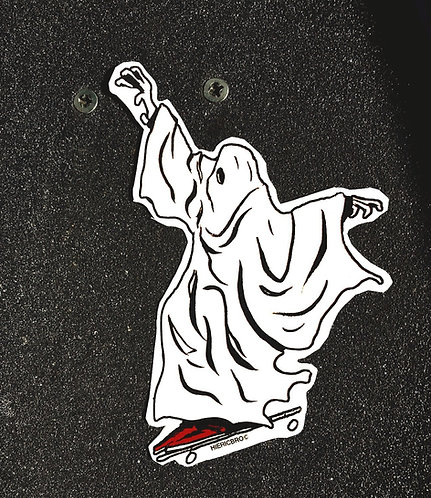 Wheelie Scary Sticker
