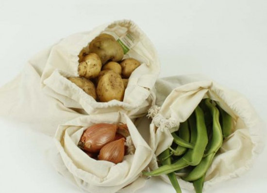 Cotton Produce Bag Variety Pack - Set of 3
