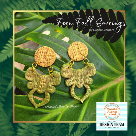 Calling nature lovers... Learn how to make these Fern Fall Earrings.
