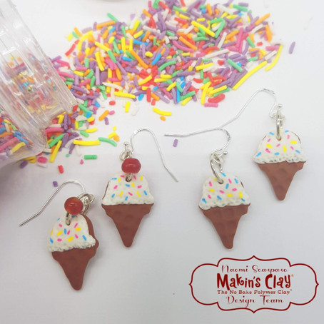 I Scream for Ice Cream! Summer Holiday Earring Tutorial