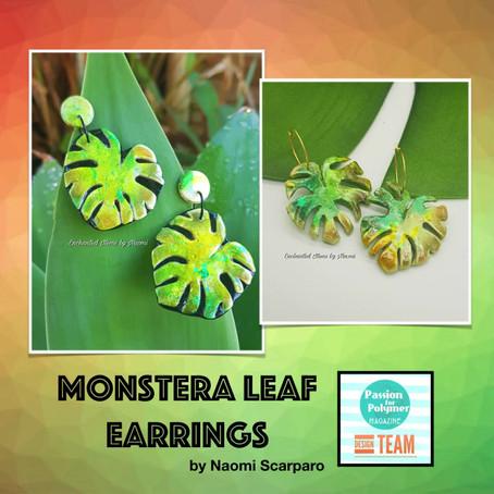 Monstera Leaf Earring tutorial