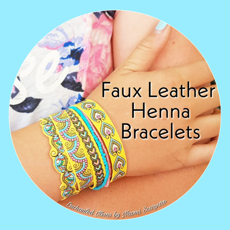 Faux Leather Henna Bracelets Tutorial - Passion for Polymer Design Team Tutorial