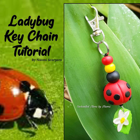 Create this adorable Ladybug Keychain... it makes a cute accessory, don't you think!?!