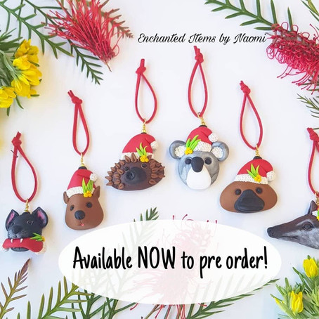 Yay! Pre Orders open now for the 2020 Australian Animal Christmas Ornaments!
