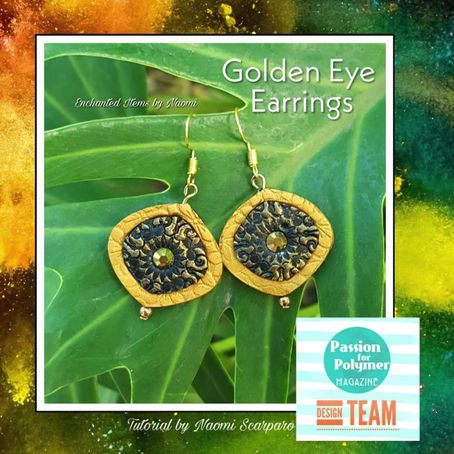 Golden Eye Earring Tutorial