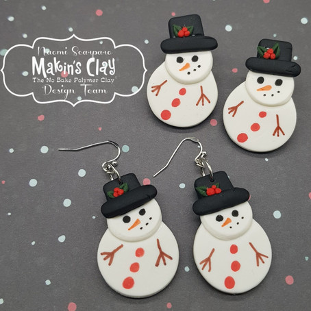 Make cute Snowman Earrings to get you into the Festive spirit...