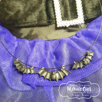 Witch's Bat Necklace
