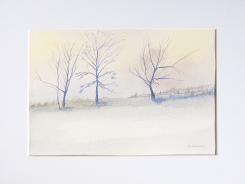 Three Trees with Early Snow