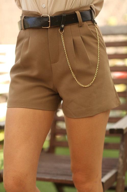 מכנס קצר שילוב חגורה