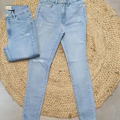 ג'ינס קרעים בהיר חברת 101