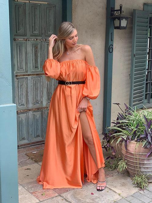 שמלה מקסי שסע