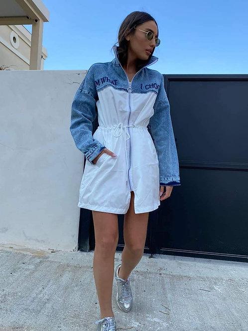 שמלה שילוב ג'ינס