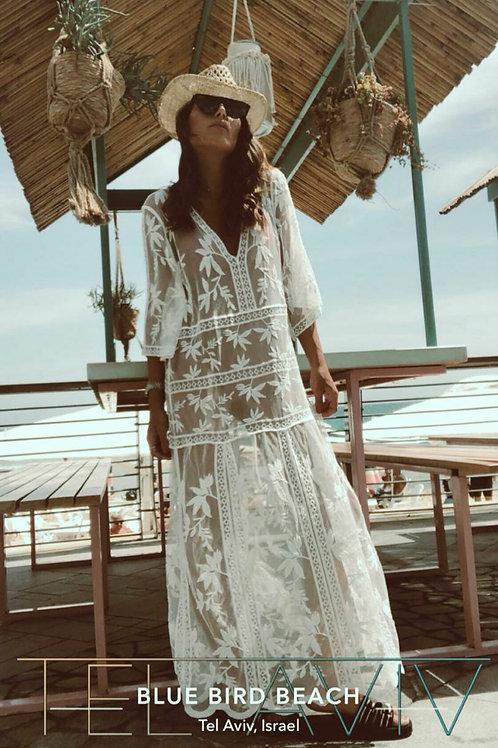 שמלת חוף תחרה