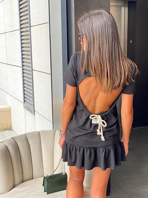 חליפת חצאית פתח בגב